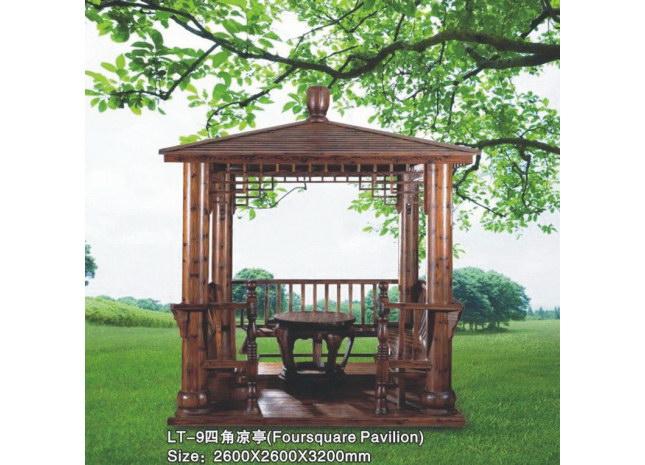 四角中式亭-苏州汉威木结构工程有限公司